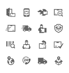 Simple Shipping and Delivery icons vector image