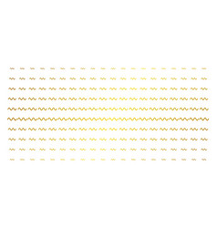 Sinusoid wave golden halftone matrix vector