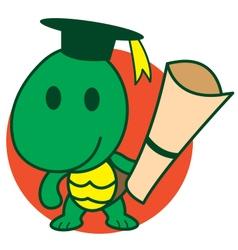 Smart Turtle vector image