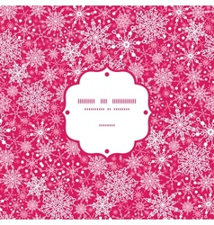 Snowflake Texture Frame Seamless Pattern vector image