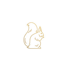 Squirrel silhouette modern linear style vector