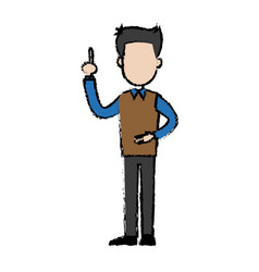 Standing man character male people cartoon vector