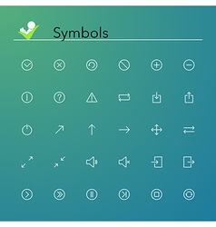 Symbols Line Icons vector image