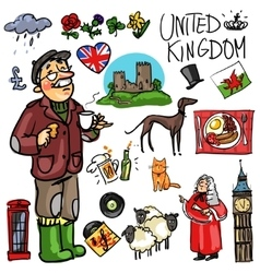 Travelling attractions - United Kingdom vector