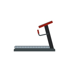 Treadmill icon in flat style vector image