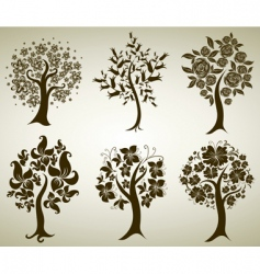 tree from flowers vector image