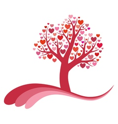 Tree of love vector