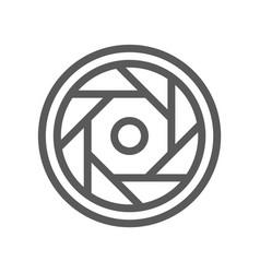 video studio production line icon vector image