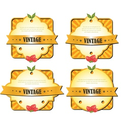 vintage elements vector image