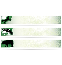 web elements farm animal banners on modern clean b vector image