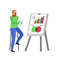 whiteboard with info and hipster animal sloth vector image