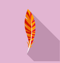 wing feather icon flat style vector image