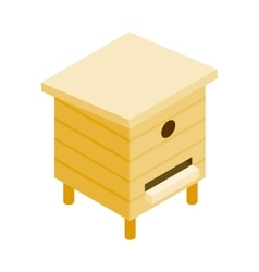 Wooden beehive isometric 3d icon vector