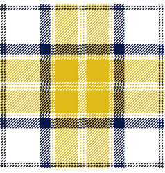 yellow and white tartan plaid seamless pattern vector image