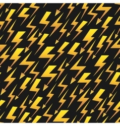 Yellow lightnings black seamless pattern vector