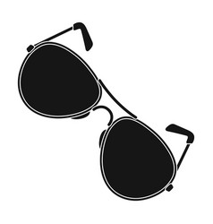 aviator sunglasses icon in black style isolated on vector image