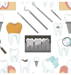 Dental tooth icons pattern vector image vector image