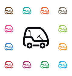 Isolated golf-car icon leisure element can vector