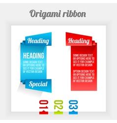 Origami ribbon vector image
