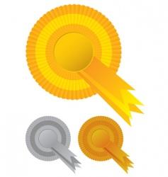rosette awards vector image