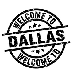 welcome to dallas black stamp vector image vector image