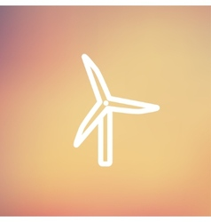 Windmill thin line icon vector image