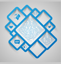 abstract web design squares vector image vector image