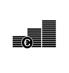 finance money euro icon vector image vector image