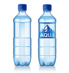 Plastic bottle vector