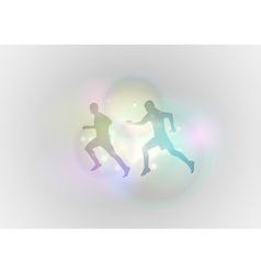 sport abstract run vector image vector image
