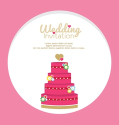 Wedding Cakes Invitation vector image vector image