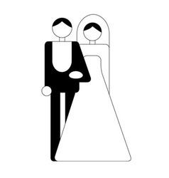 wedding logo vector image