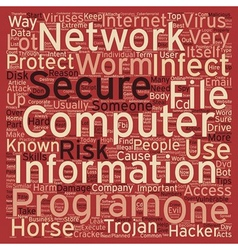 How to protect your Computer Wery useful Tips text vector image vector image