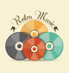 retro cd music media technology vector image vector image