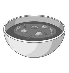 tom yum thai soup icon monochrome vector image