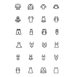 Clothes line icons 1 vector
