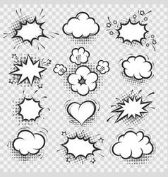 comic speech bubbles on transparent background vector image