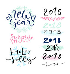handwritten new year greeting card vector image vector image