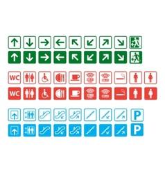 navigation signs set vector image