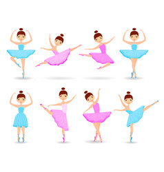 set of girls ballet dancer vector image