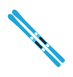 winter sports equipment on white background vector image