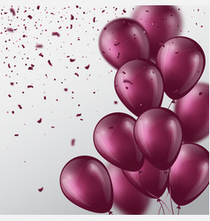 3d balloons with confetti vector image