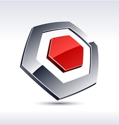 Abstract 3d hexagon icon vector