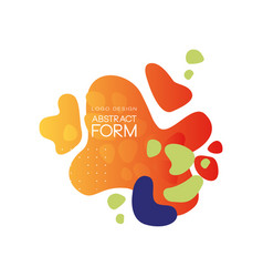 abstract form logo design brand identity element vector image