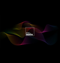 abstract spectrum wave shape on black background vector image