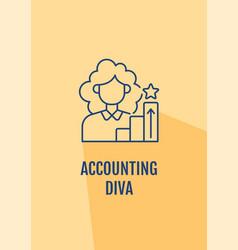 Accountant excellent reputation postcard vector