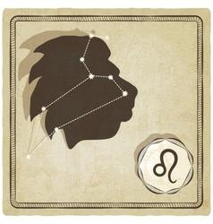 astrological sign - leo vector image