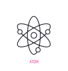 atom with nucleus and electrons outline icon vector image