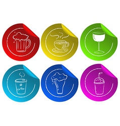 Beverage Stickers vector image