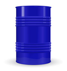 Blue metal barrel vector